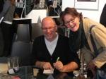 Andreas Steinhöfel und KJTZ-Mitarbeiterin Christine Hauck