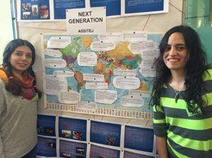 Next Generation Alumnis Minoovash Rahimian und Diana Rojas