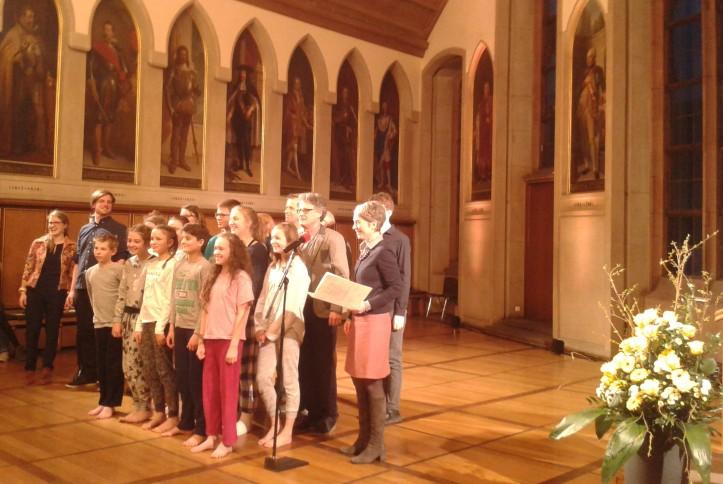 Verleihung Karfunkel an Theater Gruene Sosse