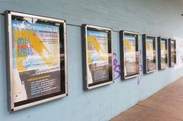 A0 Plakate in den Schaukästen